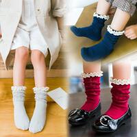 儿童棉袜子女童花边堆堆袜中筒袜宝宝半截袜春秋公主袜子