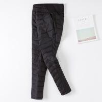 冬季修身加厚双面高腰羽绒裤女士外穿显瘦保暖弹力小脚大码棉裤子