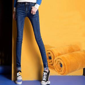 新款冬装中腰加绒加厚女秋冬款女式大码打底外穿保暖小脚裤
