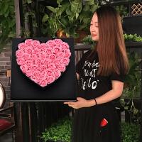 520情人��Y物玫瑰花束�Y盒生日送女友情�廴��意浪漫手工香皂花SN4326