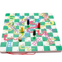 二合一游戏宝盒迷宫/蛇梯棋组合玩具游戏棋 儿童智力积木