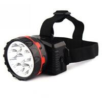 9灯头灯户外头灯强光充电防水远射应急钓鱼灯矿灯照明灯