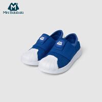 迷你巴拉巴拉婴儿休闲鞋2019夏季新款鞋子童鞋男女童透气驱蚊板鞋