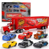 20190629002116000汽车赛车总动员3合金车儿童玩具车黑风暴麦昆2麦大叔板牙组合套装