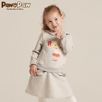 【秒杀价:140】Pawinpaw宝英宝卡通小熊童装秋冬女童款针织连衣裙