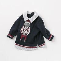 [3折价:89.1]戴维贝拉春装新款男童针织衫 宝宝套头毛衣DB8839