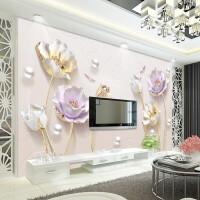欧式立体电视背景墙壁纸客厅卧室现代简约浮雕无缝墙布墙纸壁画