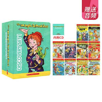 Magic School Bus Set 1 英文原版神奇校车 1-10册10CD 科普章节书