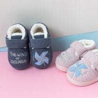 儿童拖鞋女防滑室内婴儿拖鞋1-2-3岁男童冬季包跟家居鞋防滑棉拖