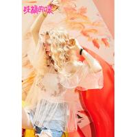 【3折价:149】【叠券满399减50】妖精的口袋一字肩上衣新款甜美荷叶边超仙宽松雪纺衫女