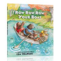 英文原版绘本 Row, Row, Row Your Boat 划船歌小船摇啊摇 廖彩杏推荐韵文与歌谣 儿歌启蒙英语 3