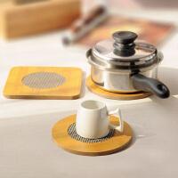厨房创意仿竹餐垫隔热垫方形杯垫圆形锅垫鱼形盘垫碗垫大号餐桌垫