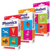 (顺丰发货)进口英文原版正版 Scholastic Flash Cards 学乐字卡3盒合集Phonics/Word F