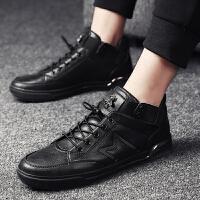 DAZED CONFUSED发型师冬季男鞋黑色高邦运动鞋鞋男生街舞板鞋英伦潮男鞋子