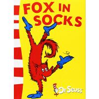 【现货】英文原版儿童书 Fox in Socks Fox in Socks 苏斯博士-穿袜子的狐狸 纸质平装彩色印刷