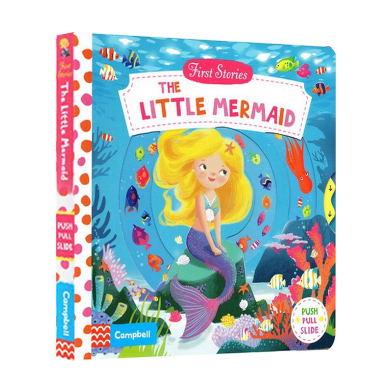 First Stories The Little Mermaid Busy系列纸板书 小美人鱼 纸板机关操作活动绘本 英文原版进口 2-6岁