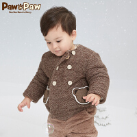 【3件3折 到手价:239】Pawinpaw卡通小熊童装冬男宝宝连帽可拆棉服外套婴幼儿