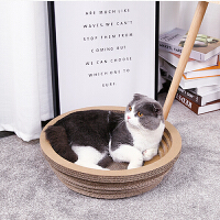 户外旅游用品猫抓板碗型磨爪器猫爪瓦楞纸碗形猫窝猫抓盆特大号耐磨猫咪玩具