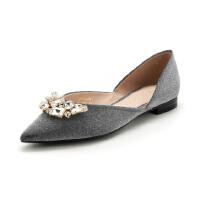 【限量秒杀】迪芙斯(D:FUSE)专柜同款格力特方跟尖头时尚单鞋DF81111226