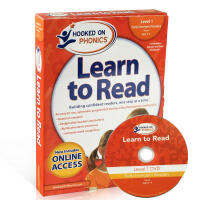 英文原版绘本 Hooked on Phonics Learn to Read - pre k Level 1 附DVD