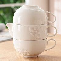 陶瓷下午茶花茶茶具套装咖啡杯套装旅行装杯具套装