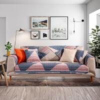 北欧沙发垫布艺纯棉通用沙发套巾罩简约现代坐垫