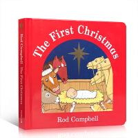 英文原版 The First Christmas 儿童亲子阅读图画纸板书 Dear Zoo同作者Rod Campbell