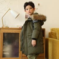 儿童羽绒服男孩子新款冬季中长款男童中大童装外套童装