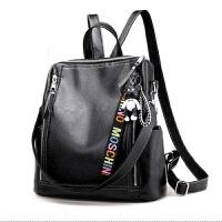 女士背包送小挂件时尚学生书包双肩包女PU百搭个性大容量多功能妈咪背包 LM