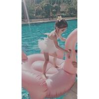 韩国儿童游泳衣女孩可爱天使翅膀可爱小中大童女童游泳衣度假泳衣