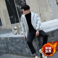 冬季面包服夹克男帅气连帽棉衣加绒加厚棉袄运动韩版潮流学生外套
