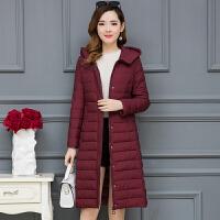长款棉袄女过膝年冬季休闲羽绒女中长款韩版女士棉衣外套