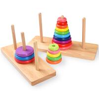 汉罗塔5层汉诺塔木质8层十层智力小学生儿童通关玩具河内塔