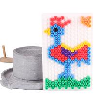早教拼图3-6周岁立体百变蘑菇钉拼图儿童玩具益智魔盘拼插板宝宝