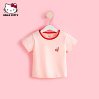 hellokitty女童卡通短袖T恤2021夏季新款半袖上衣婴儿宝宝儿童装