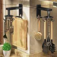 厨房壁挂式锅铲勺子挂架厨具用品收纳架免打孔旋转挂钩置物架