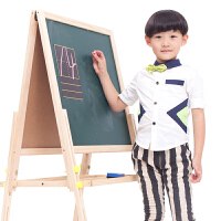 木制可升降双面磁性儿童画板画架 支架式小黑板2-3-6周岁