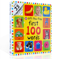 英文原版词典正版 Lift-The-Flap: First 100 Words 一百个单词启蒙100词翻翻书 儿童英语