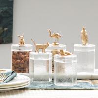 玻璃罐创意特色收纳储物茶叶家用化妆饰品收纳
