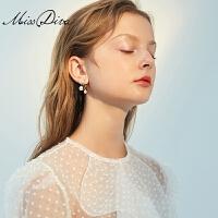 仿珍珠耳环女气质新款耳圈适合短发的耳钉大气耳饰