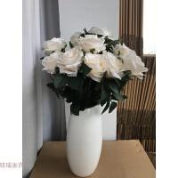 假花仿真花束玫瑰花束摆件绣球干花客厅卧室落地花艺餐桌绢花