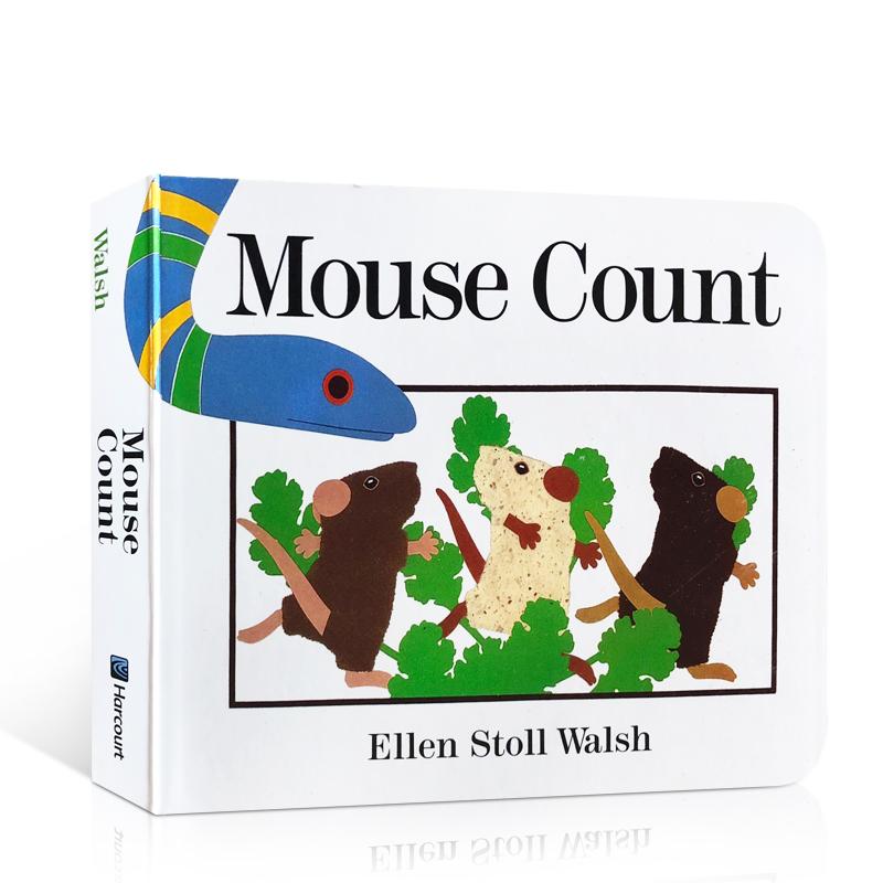 顺丰发货 英文原版进口绘本 美国图书馆协会推荐 Mouse Count 老鼠数数 吴敏兰书单 第49本 儿童启蒙纸板书 撕不烂 2-5岁