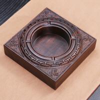 烟灰缸木烟缸实木中式仿古木烟灰缸复古木质木头烟缸
