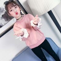 女童春秋上衣2018新款韩版儿童装春装T恤女大童洋气长袖打底衫潮