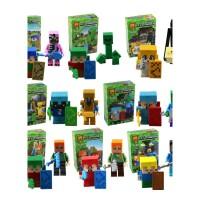 兼容乐高我的世界积木人偶凋零史蒂夫拼装小人仔儿童圣诞玩具儿童节礼物