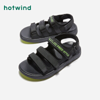 热风夏季潮流时尚男士休闲凉鞋露趾青年沙滩鞋H65M9202