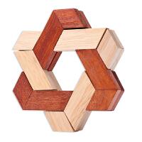 孔明锁双色三角 木制玩具 儿童解锁 双三角