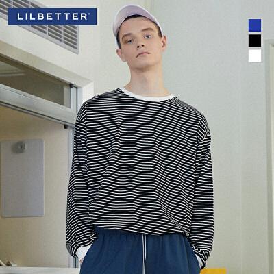 2.5折价:70;Lilbetter2019春季新品男士条纹撞色长袖T恤 时尚潮牌 疯狂抢购