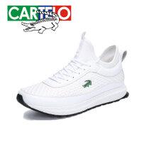 卡帝乐鳄鱼男鞋透气跑步运动鞋男士鞋子运动休闲鞋男式旅游鞋潮鞋