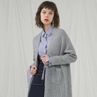 秋装新品 宽松长袖毛衫针织衫外套女E736025M50